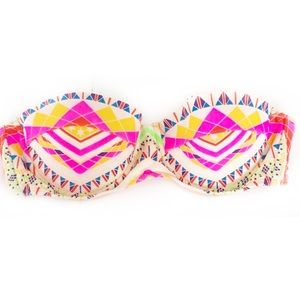 MARA HOFFMAN Graphic Underwire Bikini Top Pink SzS